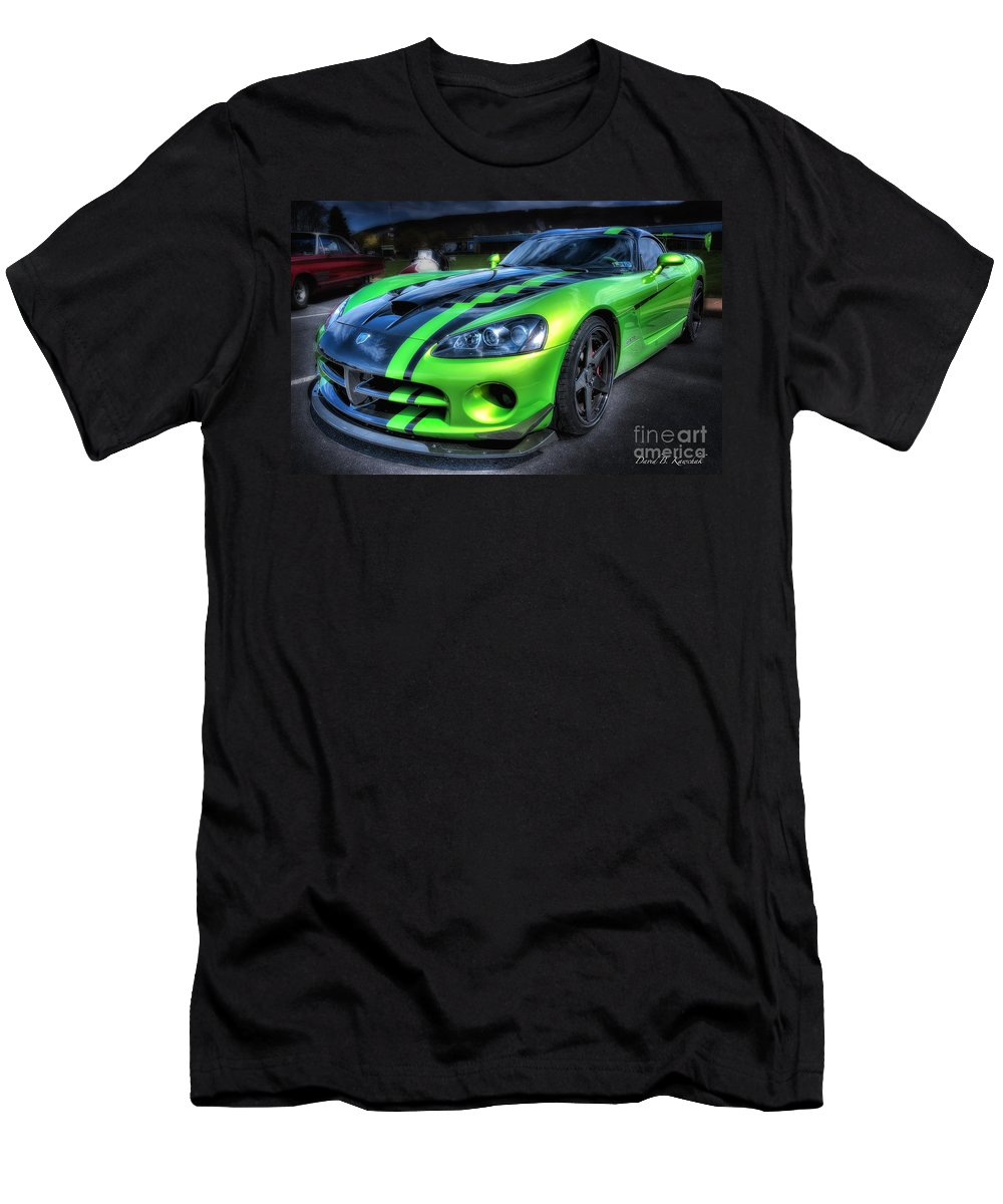 2010 Dodge Viper Acr Men's T-Shirt (Athletic Fit) featuring the photograph 2010 Dodge Viper Acr by David B Kawchak Custom Classic Photography