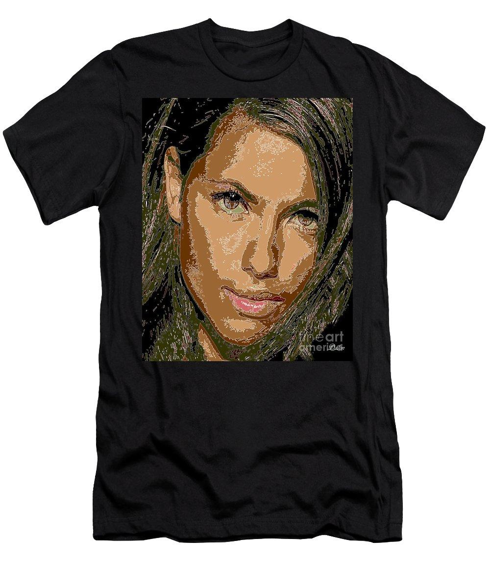 Star Men's T-Shirt (Athletic Fit) featuring the digital art Adriana Lima Supermodel by Dalon Ryan