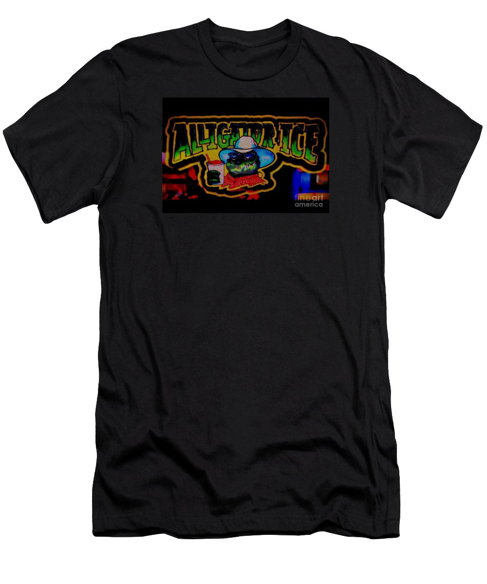 Men's T-Shirt (Athletic Fit) featuring the photograph Alligator Ice by Kelly Awad