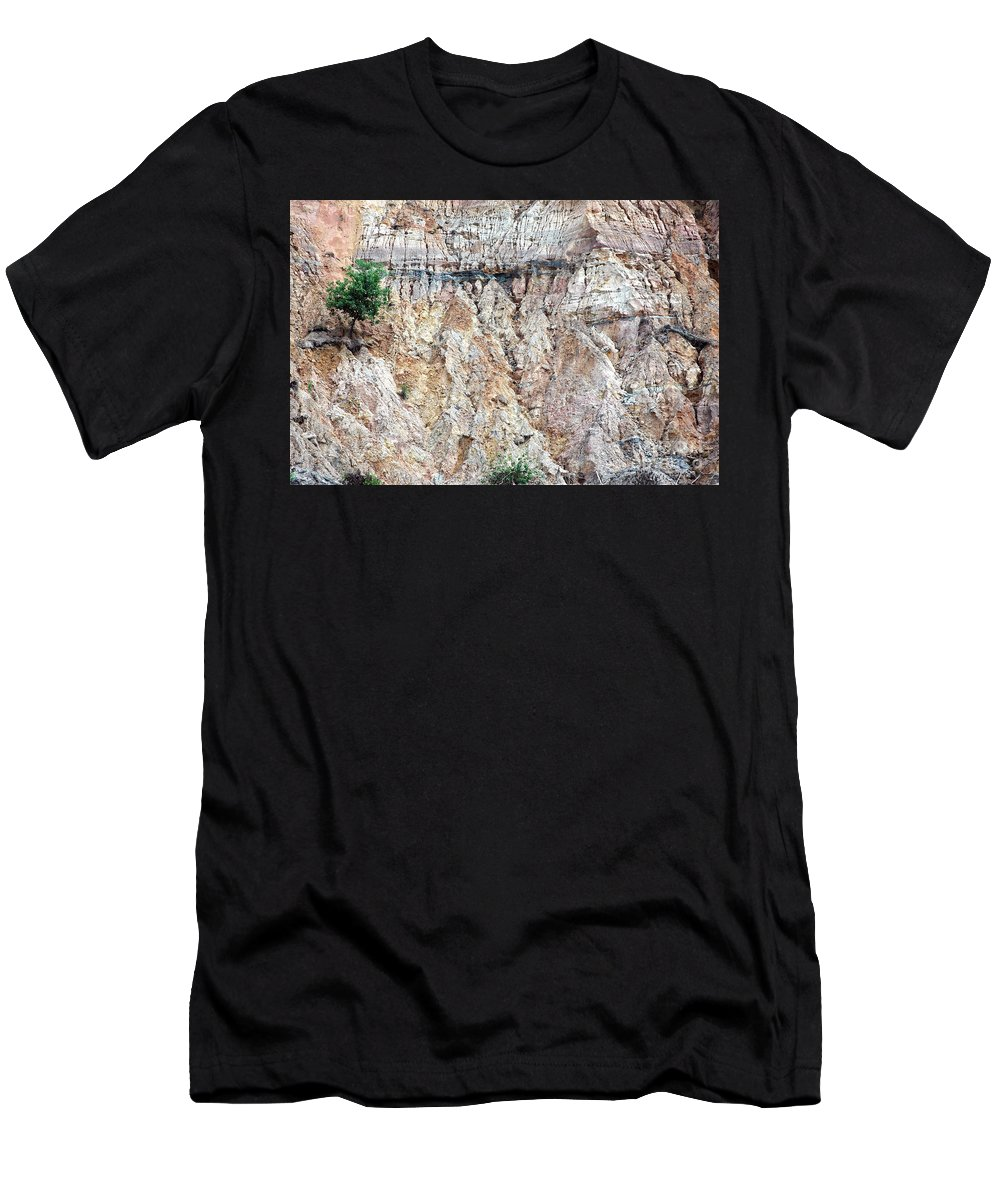 Nature Men's T-Shirt (Athletic Fit) featuring the photograph Alone by Antoni Halim