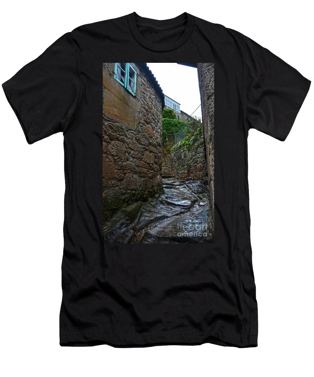 Ancient Men's T-Shirt (Athletic Fit) featuring the photograph Ancient Street In Tui by RicardMN Photography