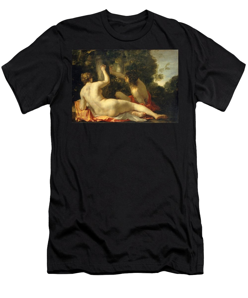 Jacques Blanchard Men's T-Shirt (Athletic Fit) featuring the painting Angelica And Medoro by Jacques Blanchard
