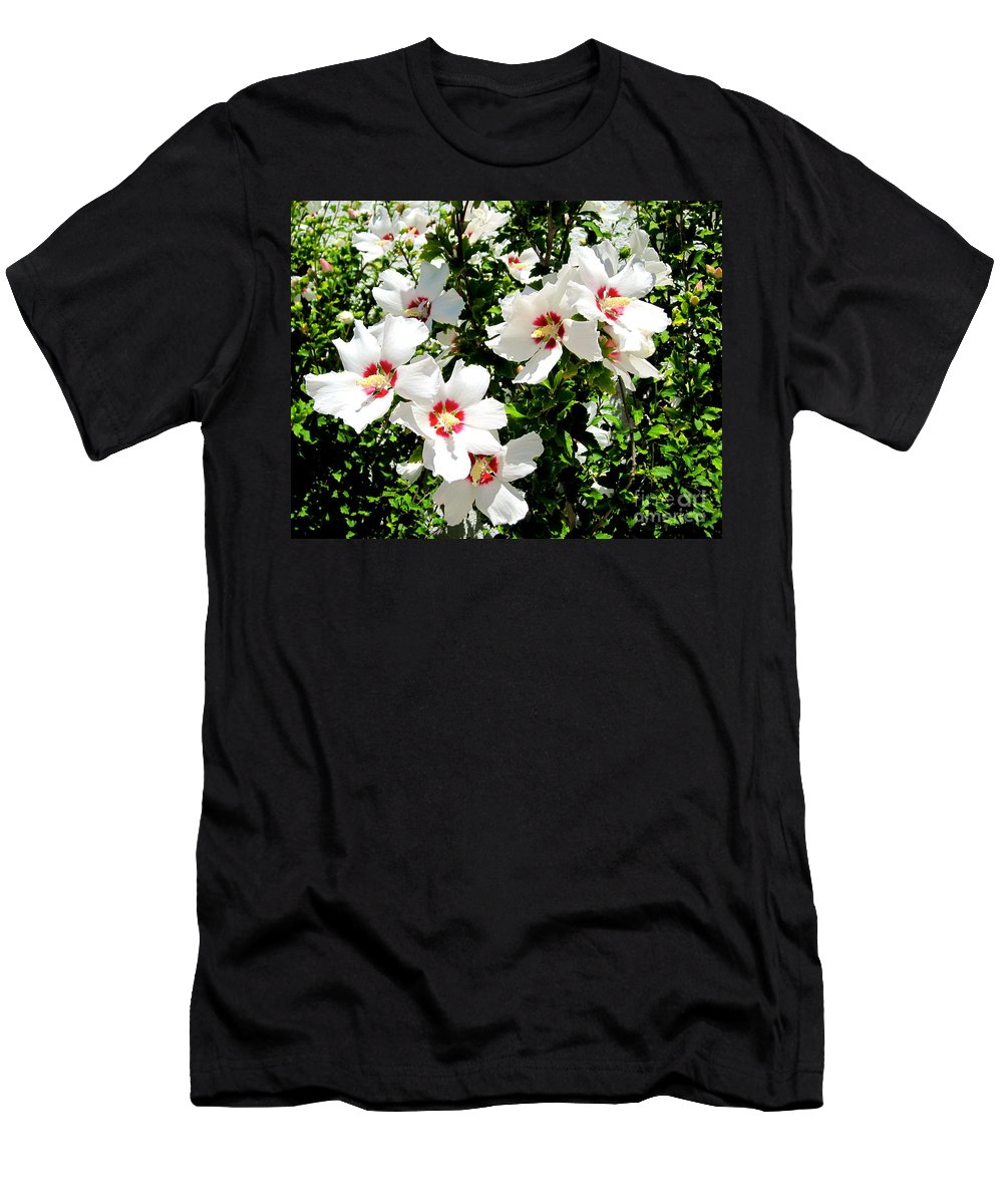 Hibiscus Men's T-Shirt (Athletic Fit) featuring the photograph Beautiful Hibiscus by Phyllis Kaltenbach