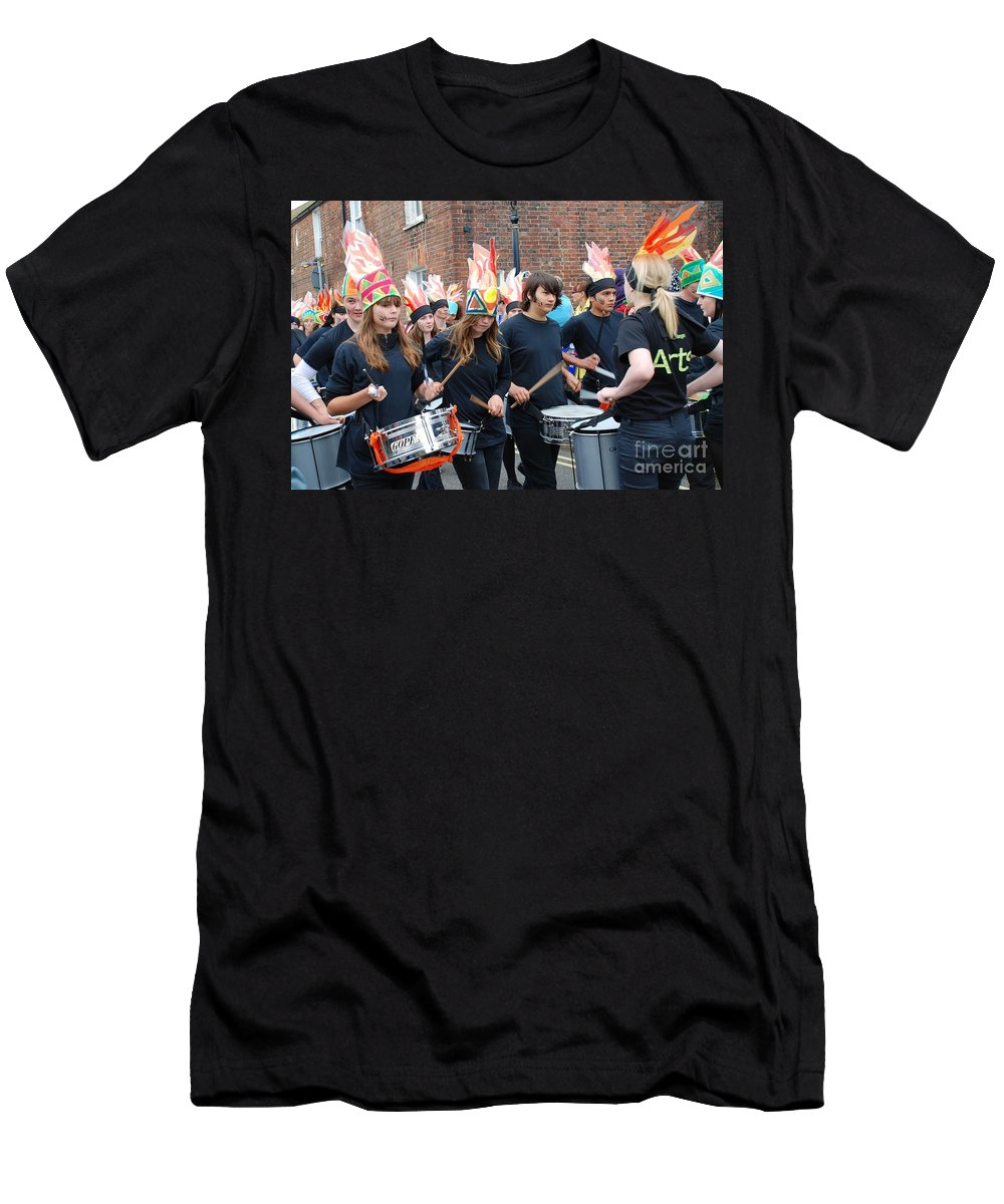 Olympic Men's T-Shirt (Athletic Fit) featuring the photograph Blocco Drummers Rye by David Fowler