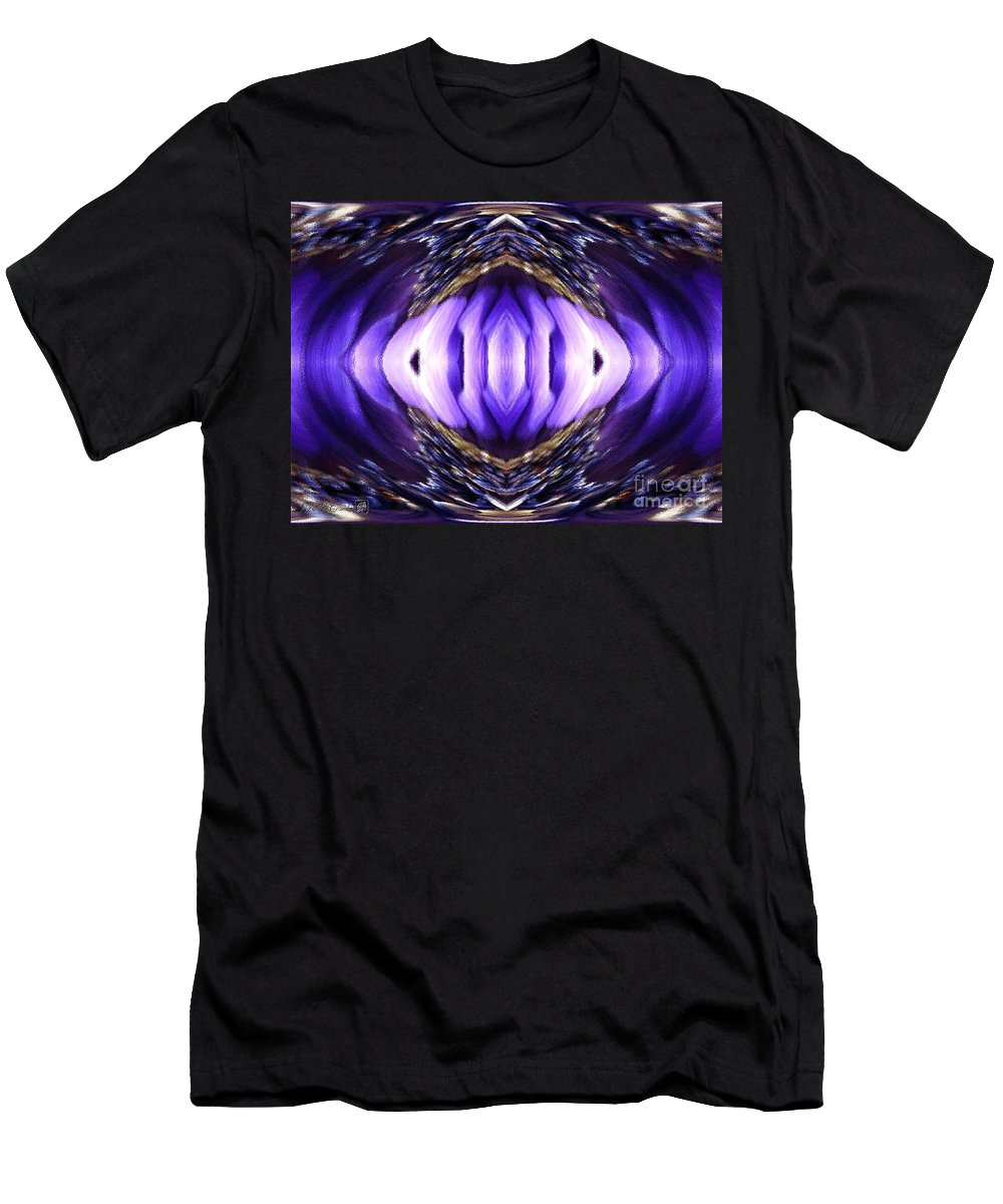 Anemone De Caen Men's T-Shirt (Athletic Fit) featuring the painting Blue Poppy Fish Abstract by J McCombie