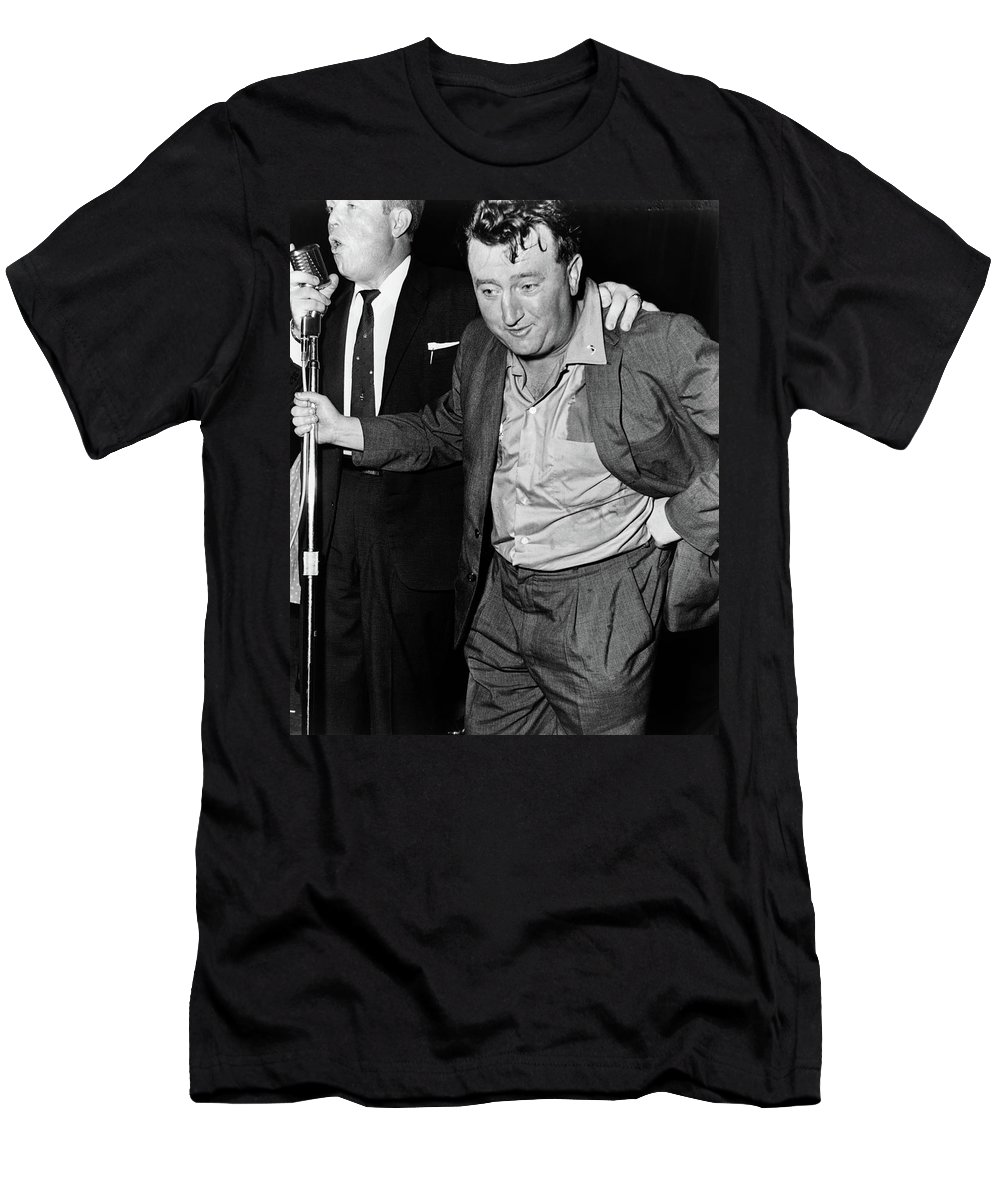 1960 Men's T-Shirt (Athletic Fit) featuring the photograph Brendan Behan (1923-1964) by Granger
