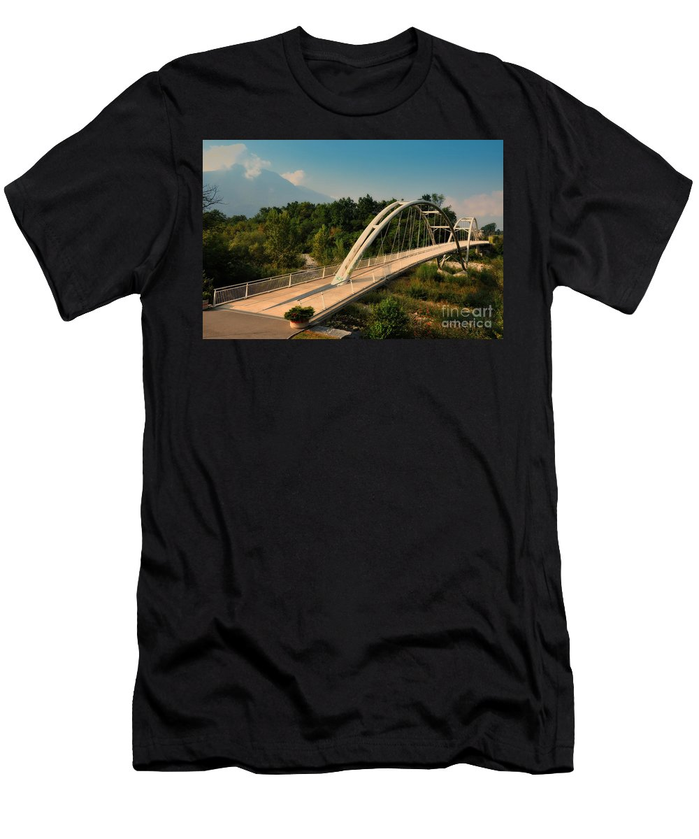 Bridge Men's T-Shirt (Athletic Fit) featuring the photograph Bridge by Mats Silvan