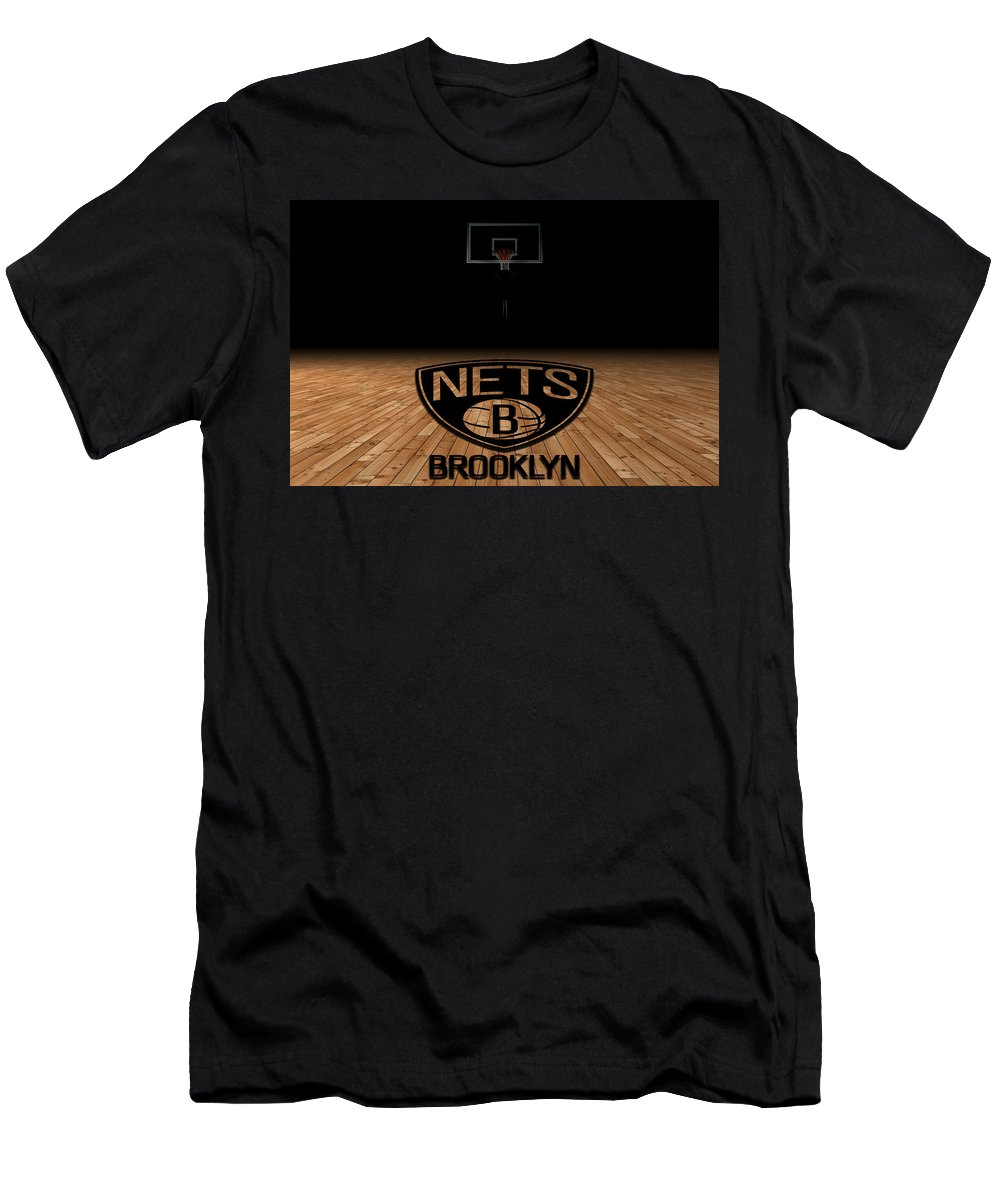 Nets Men's T-Shirt (Athletic Fit) featuring the photograph Brooklyn Nets by Joe Hamilton