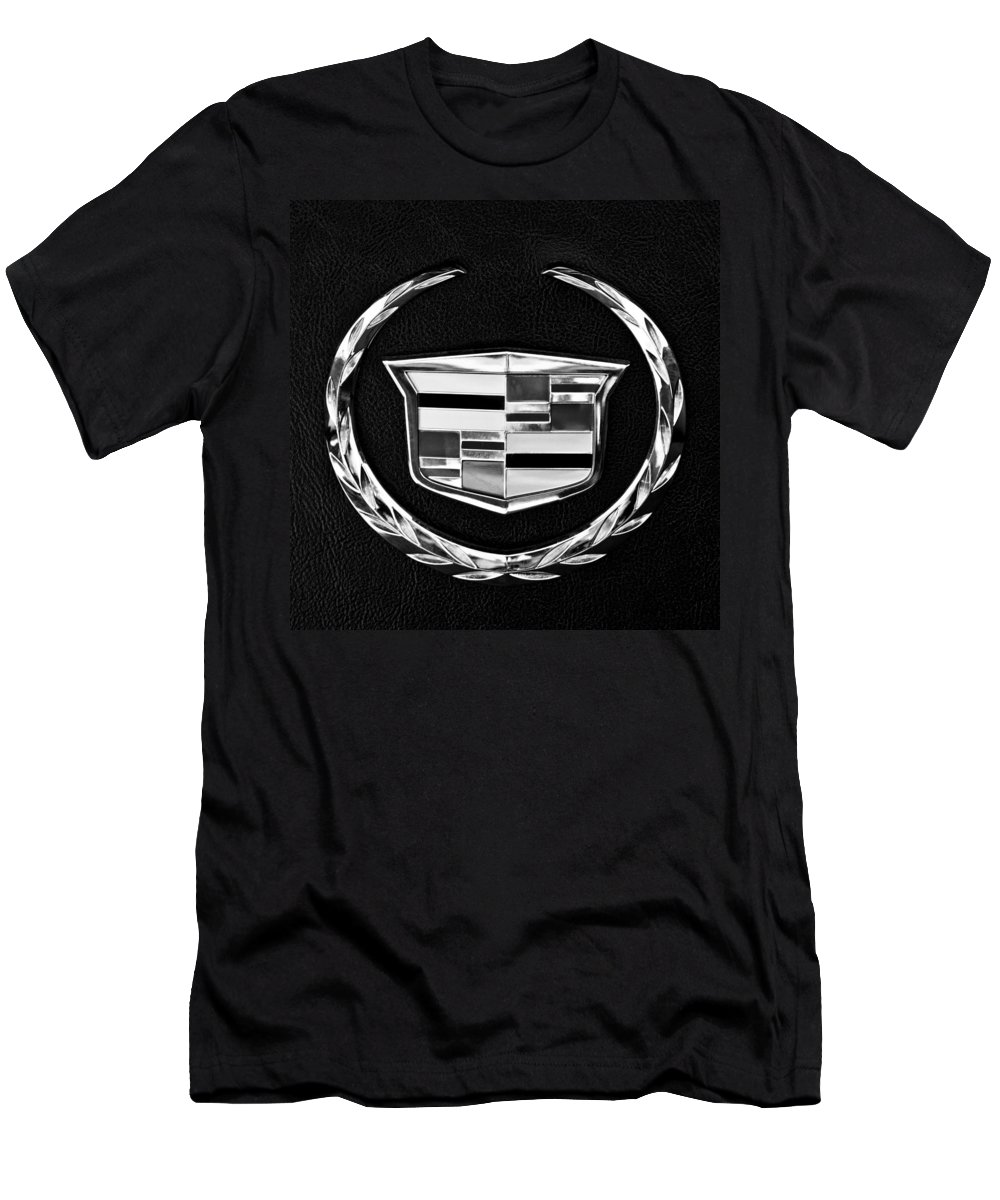 Cadillac T-Shirt featuring the photograph Cadillac Emblem by Jill Reger
