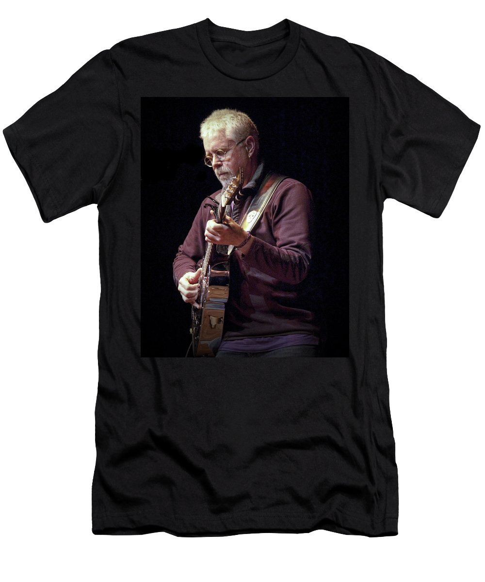 Art Men's T-Shirt (Athletic Fit) featuring the photograph Canadian Folk Rocker Bruce Cockburn by Randall Nyhof