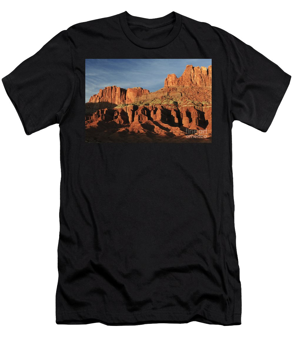 Capitol Reef Men's T-Shirt (Athletic Fit) featuring the photograph Capital Reef National Park by John Shaw