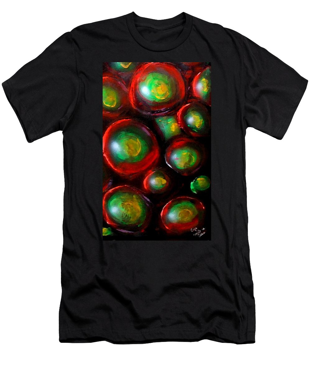 Cells Men's T-Shirt (Athletic Fit) featuring the painting Cells 2 by Marcello Cicchini