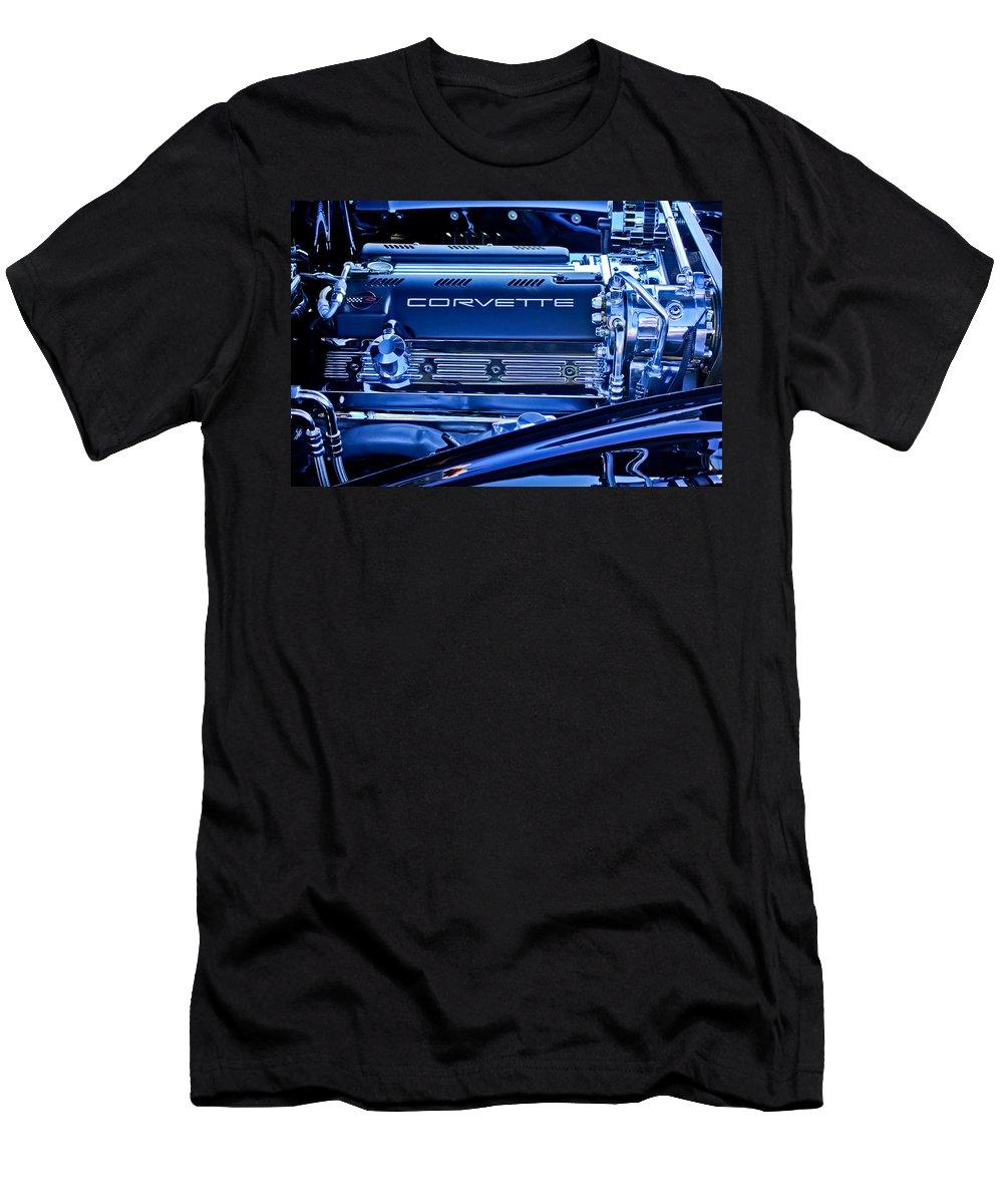 Chevrolet Corvette Engine Men's T-Shirt (Athletic Fit) featuring the photograph Chevrolet Corvette Engine by Jill Reger