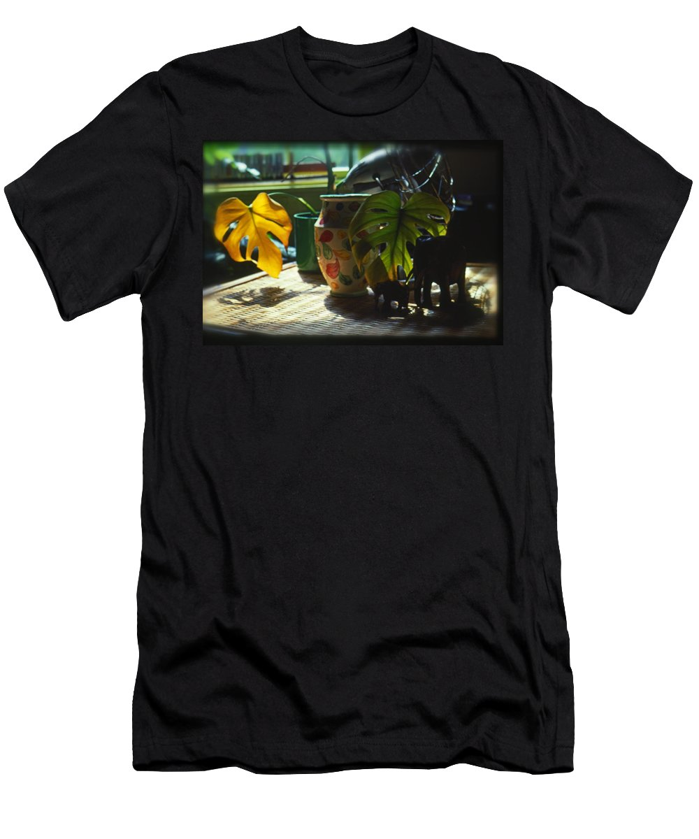 Safari Men's T-Shirt (Athletic Fit) featuring the painting Close Up by Charles Stuart