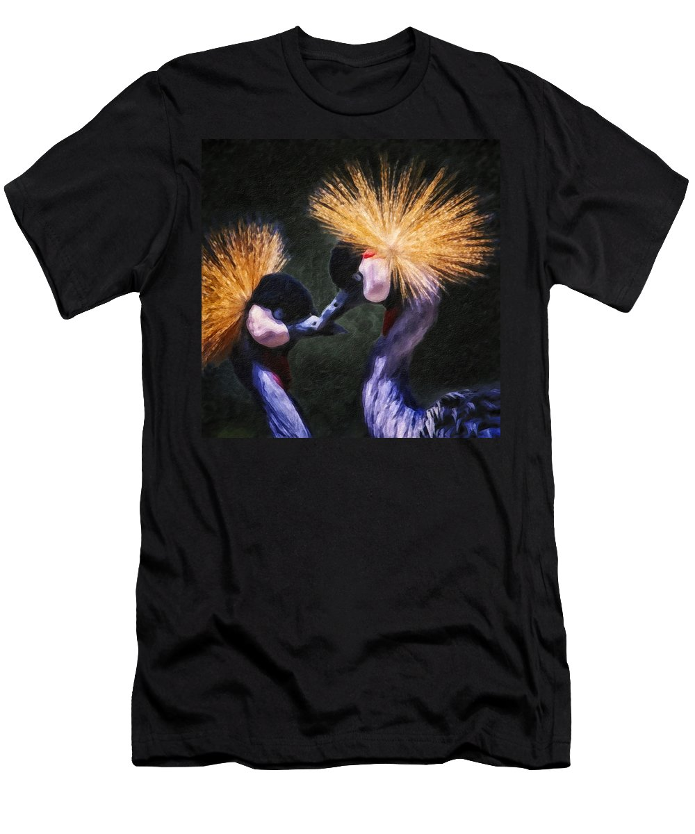Bird Men's T-Shirt (Athletic Fit) featuring the photograph Crane 14 by Ingrid Smith-Johnsen