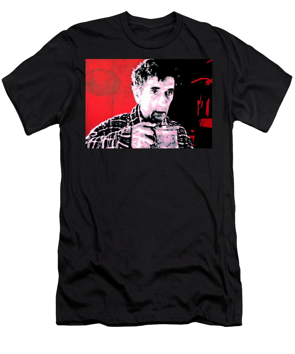 Laura Palmer Men's T-Shirt (Athletic Fit) featuring the painting Cup Of Good Morning America by Luis Ludzska