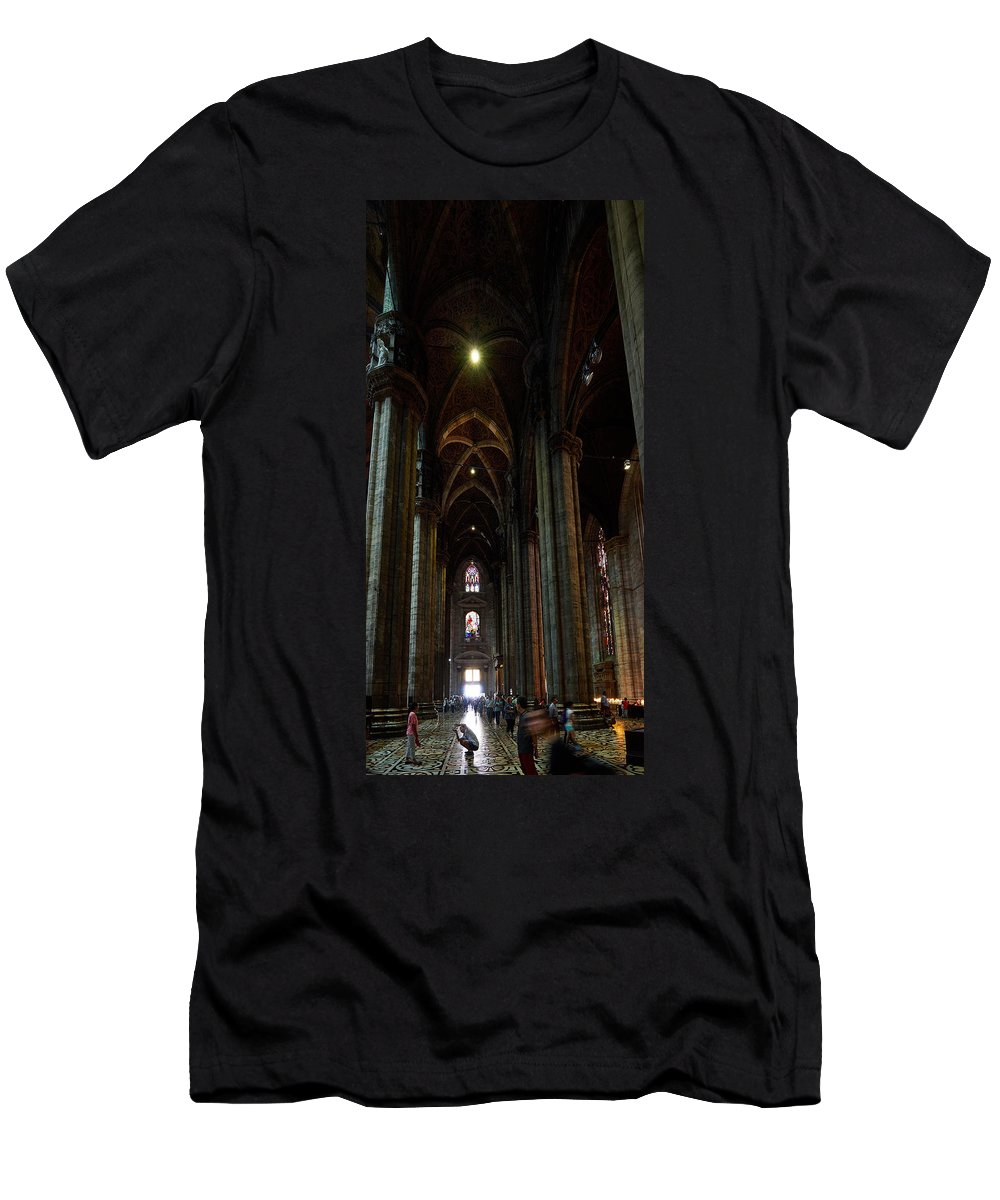 Francacorta Men's T-Shirt (Athletic Fit) featuring the photograph Duomo. Milano Milan by Jouko Lehto