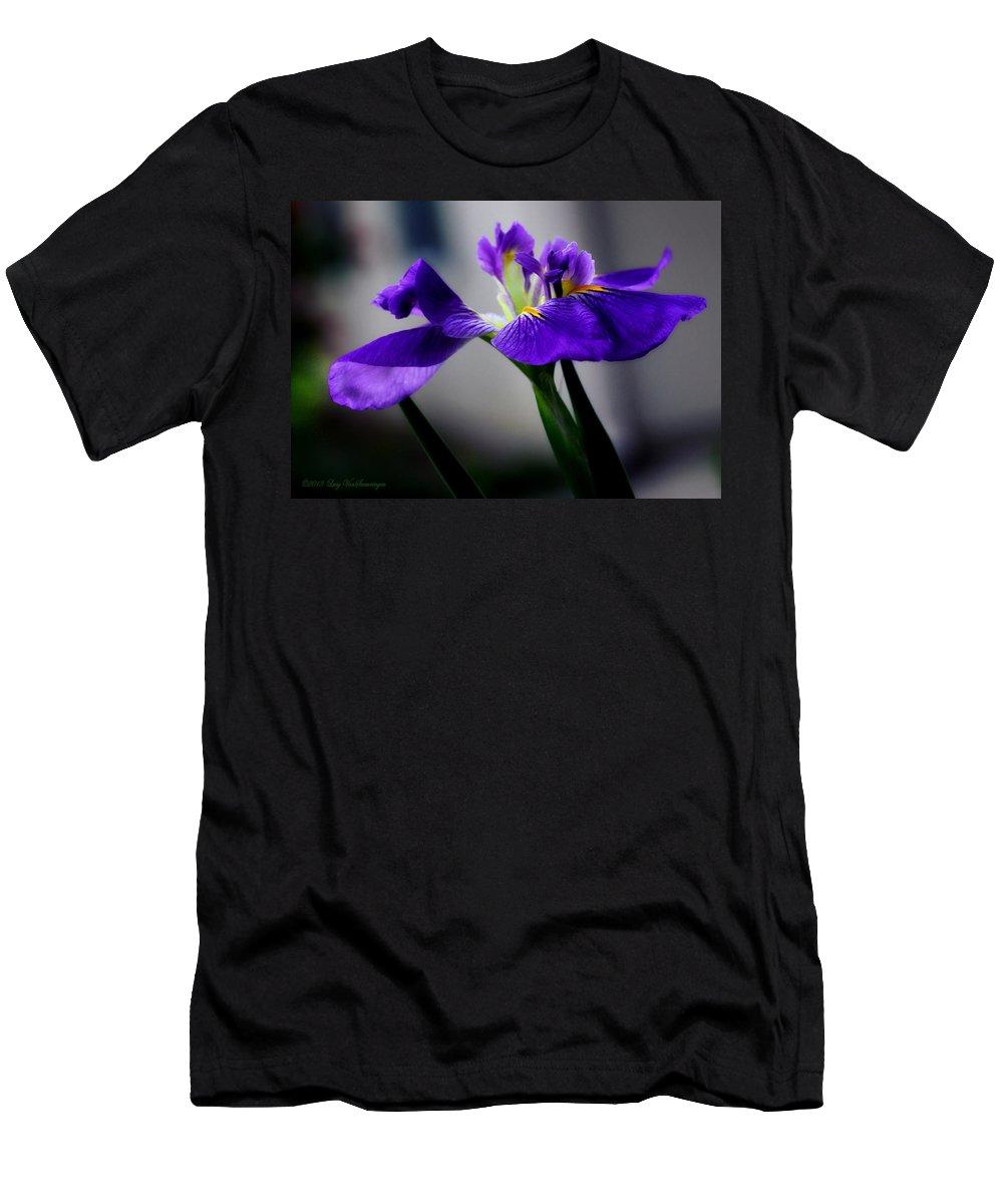 Iris T-Shirt featuring the photograph Elegant Iris by Lucy VanSwearingen