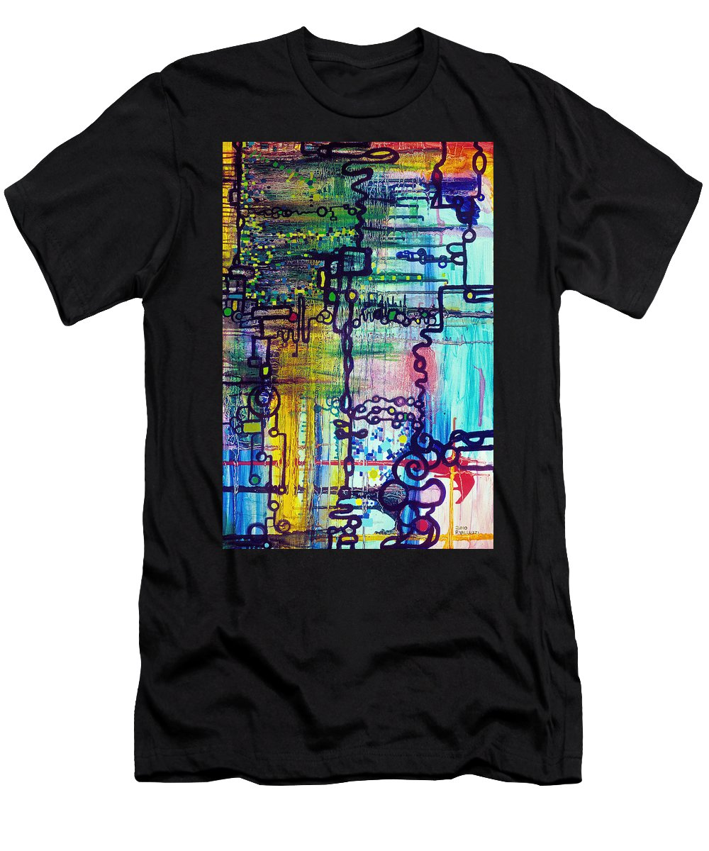 Order Men's T-Shirt (Athletic Fit) featuring the painting Emergent Order by Regina Valluzzi