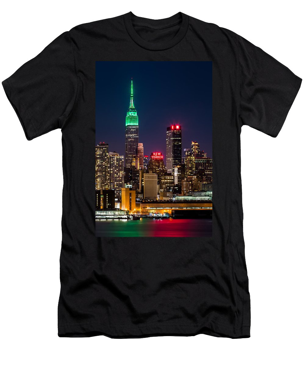 Ireland T-Shirt featuring the photograph Empire State Building on Saint Patrick's Day by Mihai Andritoiu