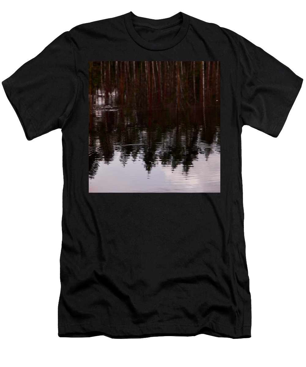 Finland Men's T-Shirt (Athletic Fit) featuring the photograph European Common Brown Frog by Jouko Lehto