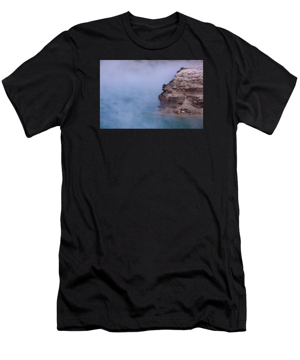 Excelsior Geyser Crater Men's T-Shirt (Athletic Fit) featuring the photograph Excelsior Geyser Crater by Scott Sanders