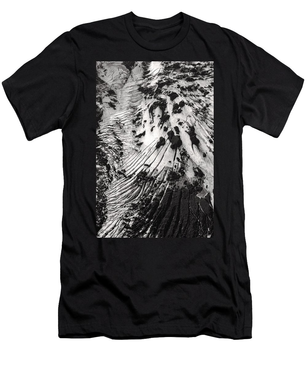 Iceland Men's T-Shirt (Athletic Fit) featuring the photograph Eyjafjallajokull Glacier And Ashes by For Ninety One Days