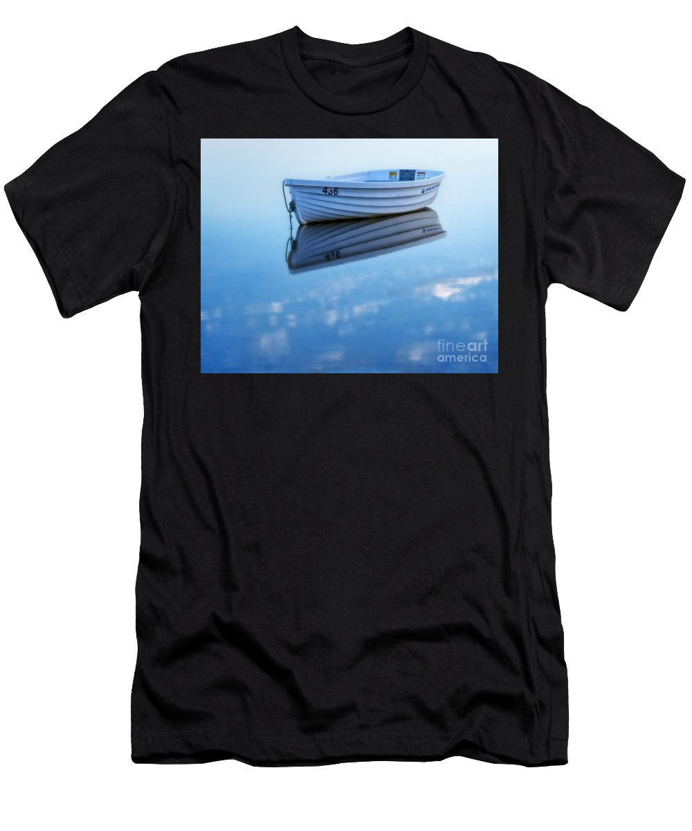 Boat Men's T-Shirt (Athletic Fit) featuring the photograph Floating by Claudia Kuhn