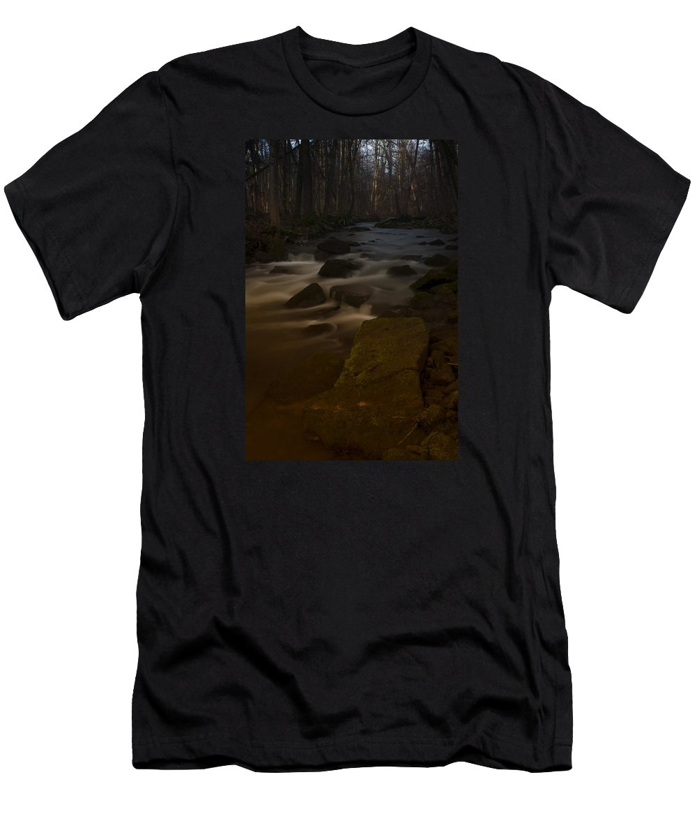 Forest Men's T-Shirt (Athletic Fit) featuring the photograph Forest Creek by Miguel Winterpacht