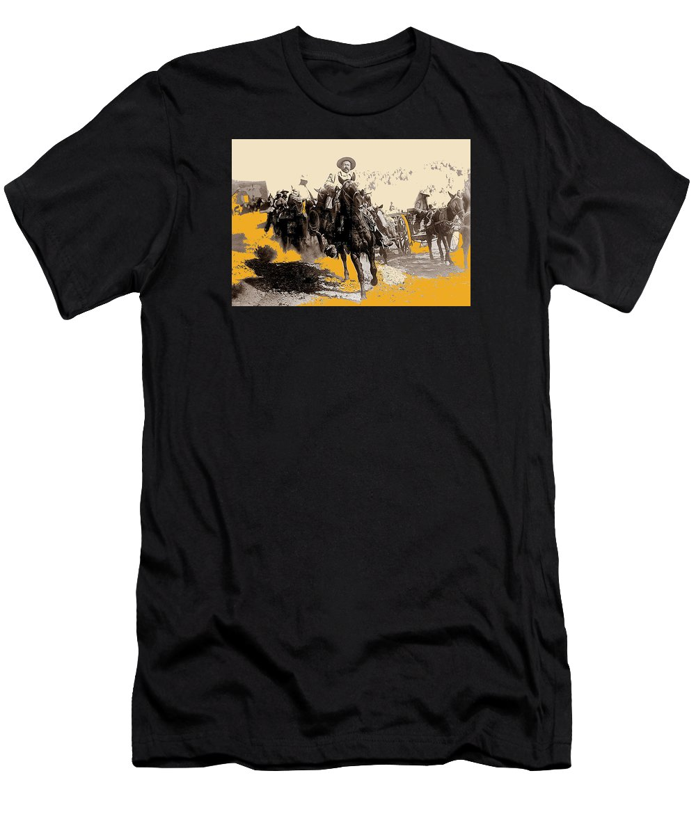 General Pancho Villa At Ojinaga A Military Triumph 1916-2008 Men's T-Shirt (Athletic Fit) featuring the photograph General Pancho Villa At Ojinaga A Military Triumph 1916-2008 by David Lee Guss