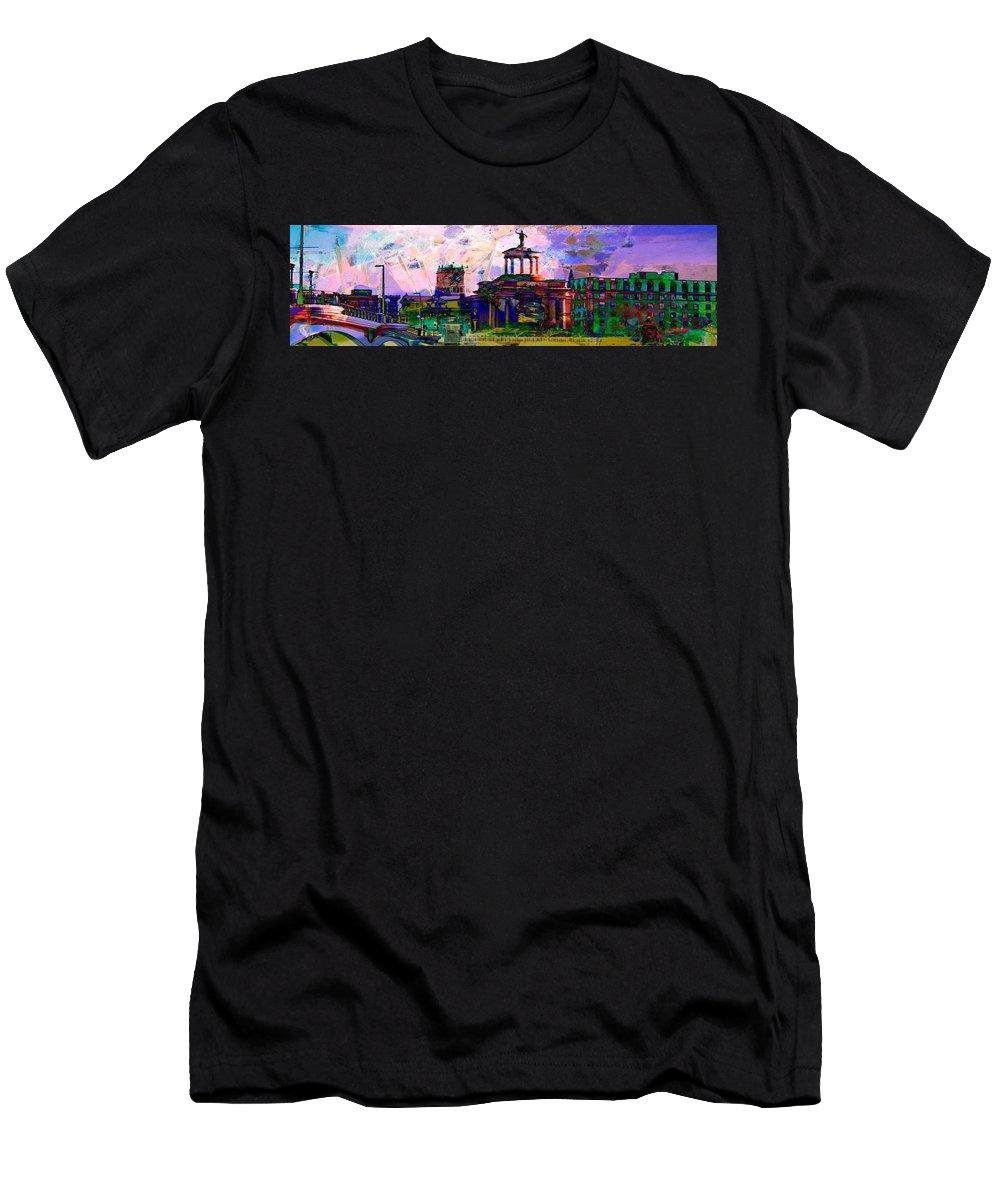 Hamilton Ohio Men's T-Shirt (Athletic Fit) featuring the digital art Hamilton Ohio City Art 15 by Mary Clanahan