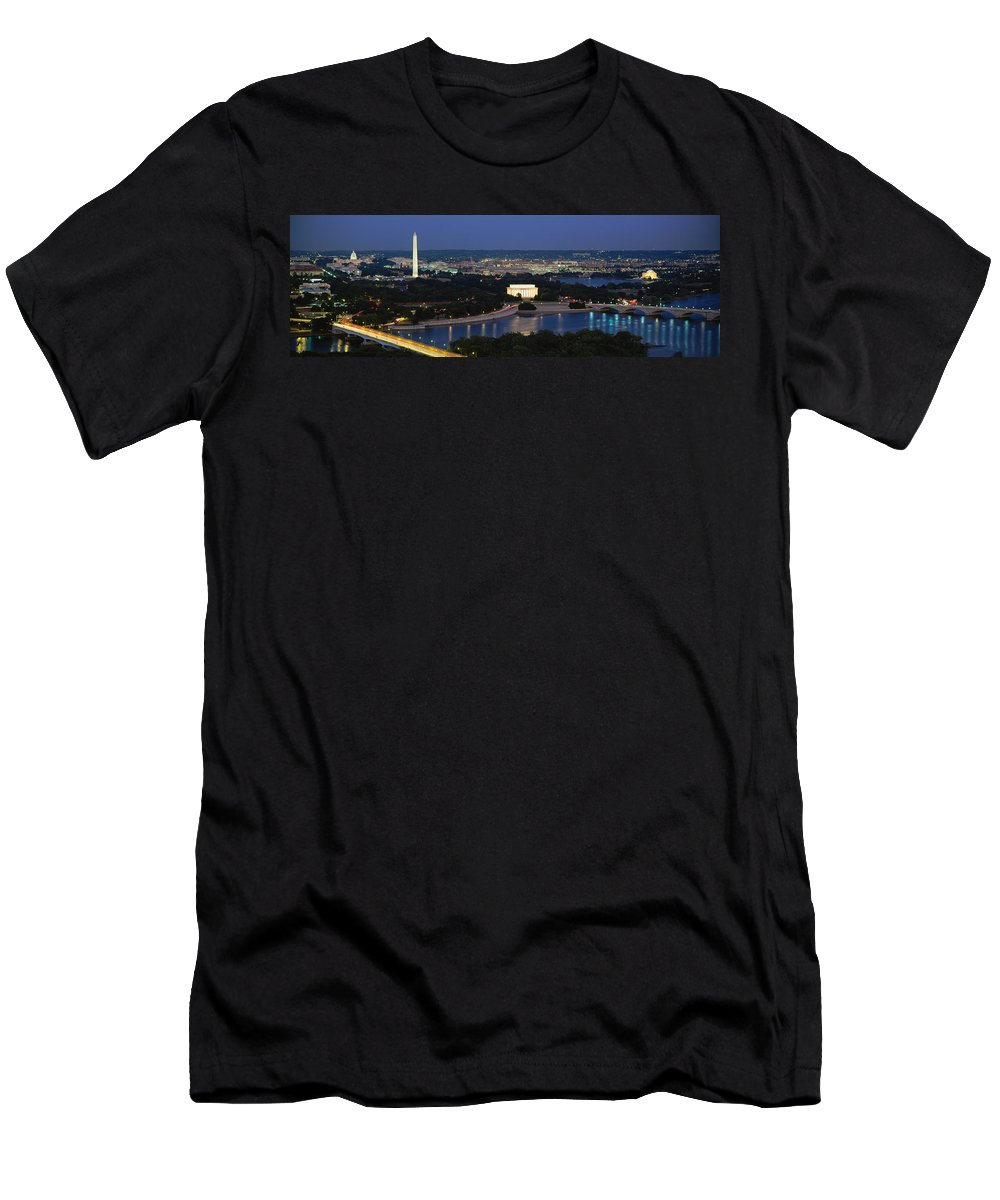 Photography Men's T-Shirt (Athletic Fit) featuring the photograph High Angle View Of A City, Washington 1 by Panoramic Images