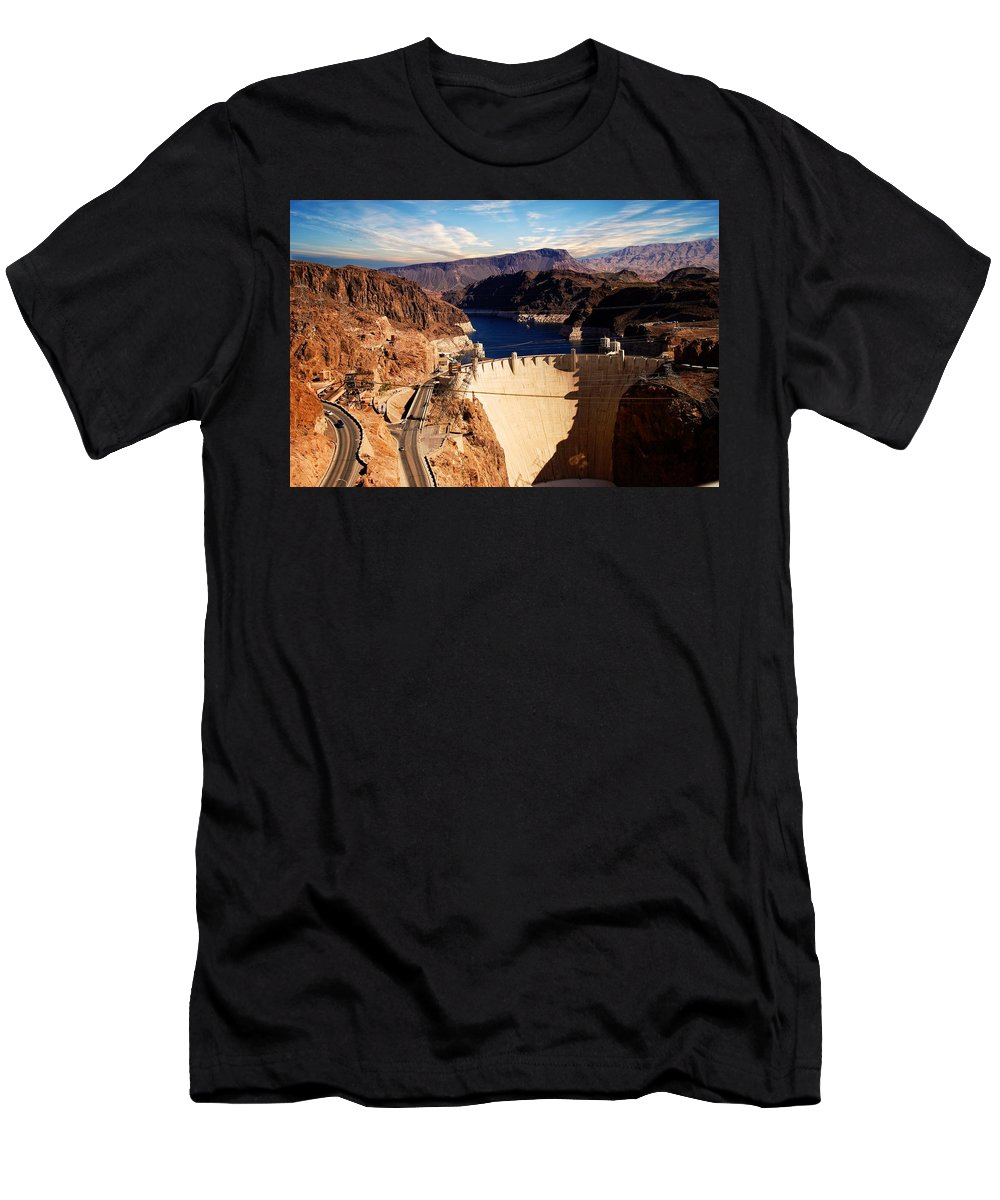 Hoover Dam Men's T-Shirt (Athletic Fit) featuring the photograph Hoover Dam Nevada by Bob Pardue