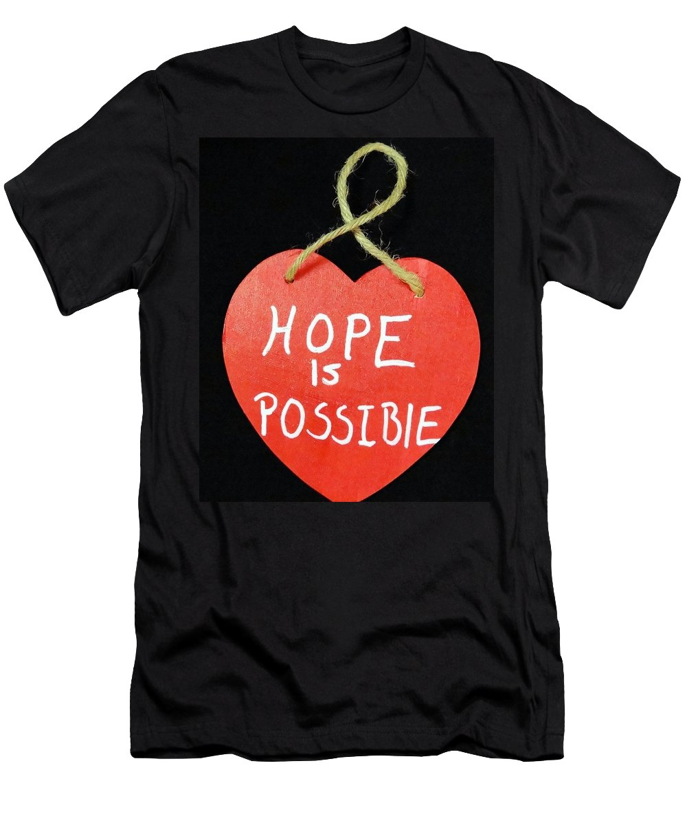 Hearts Men's T-Shirt (Athletic Fit) featuring the photograph Hope Is Possible by Lisa Brandel