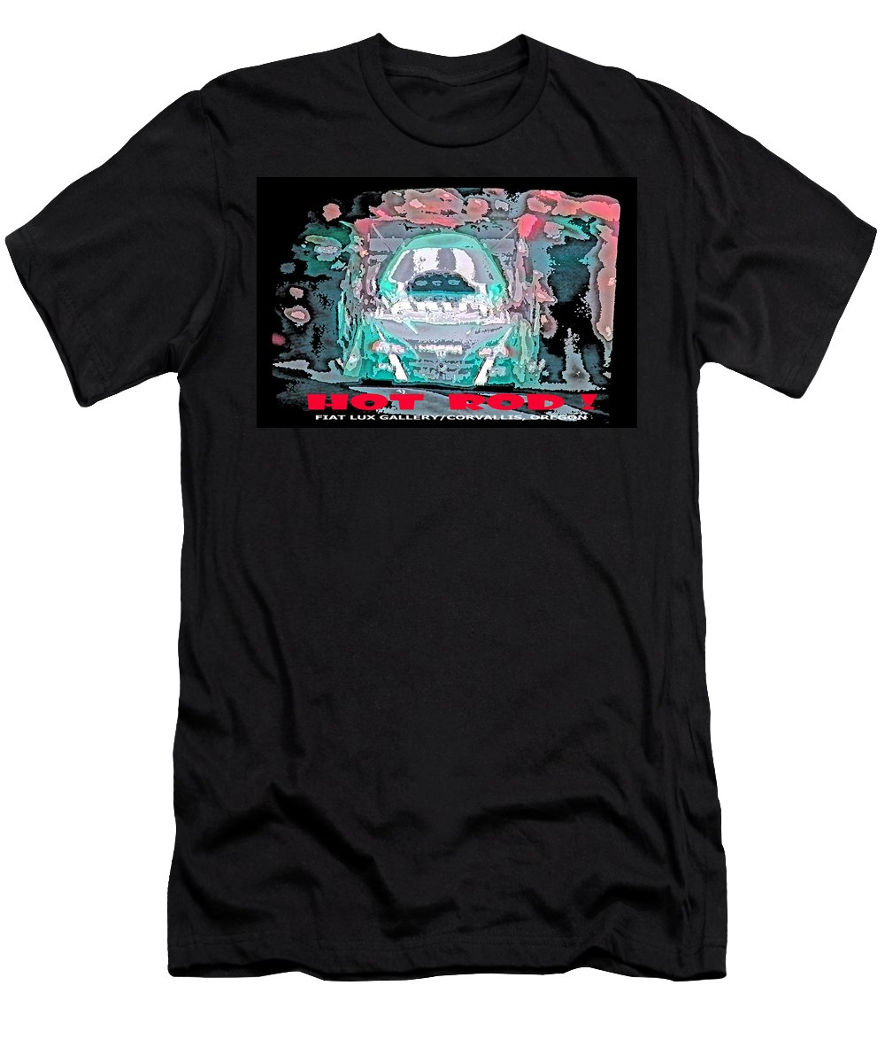 Hot Rods Men's T-Shirt (Athletic Fit) featuring the digital art Hot Rod by Michael Moore