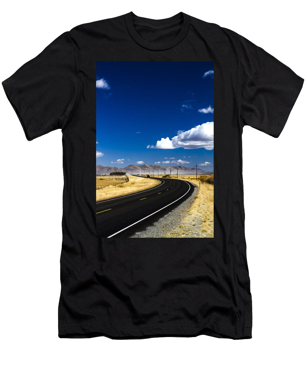 Landschaften Men's T-Shirt (Athletic Fit) featuring the photograph Idaho Street by For Ninety One Days