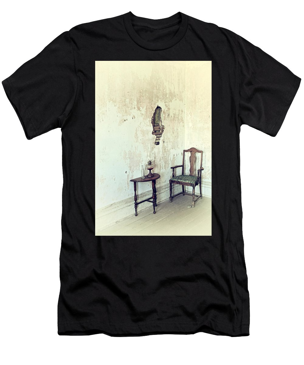 Yesterday Men's T-Shirt (Athletic Fit) featuring the photograph If Walls Could Talk by Karol Livote