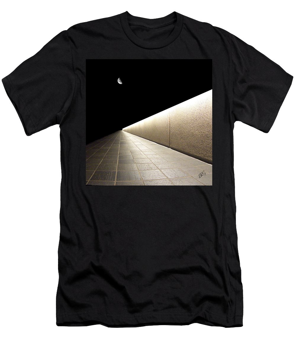 Abstract Cityscape Men's T-Shirt (Athletic Fit) featuring the photograph Into The Night I by Ben and Raisa Gertsberg