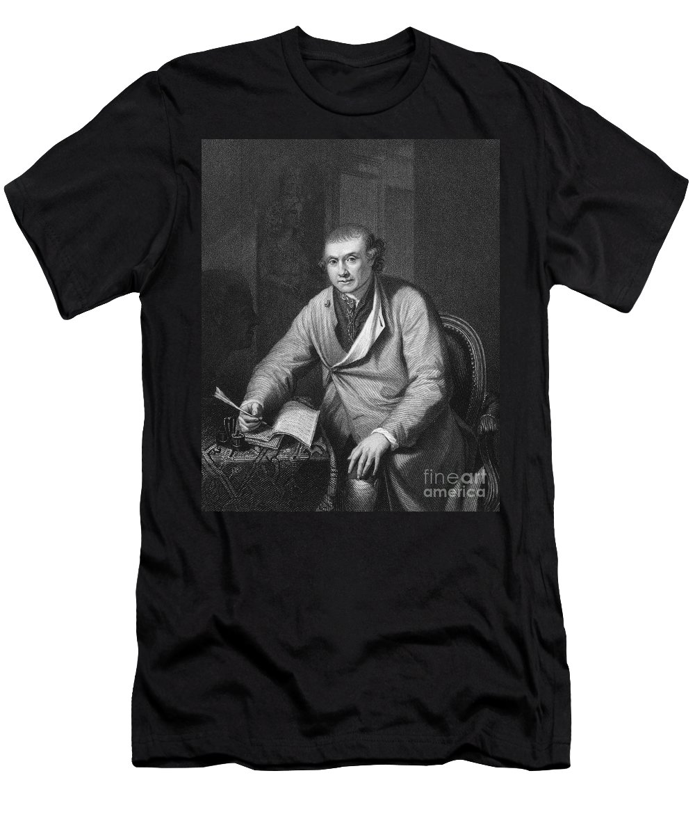18th Century Men's T-Shirt (Athletic Fit) featuring the photograph John Hunter (1728-1793) by Granger