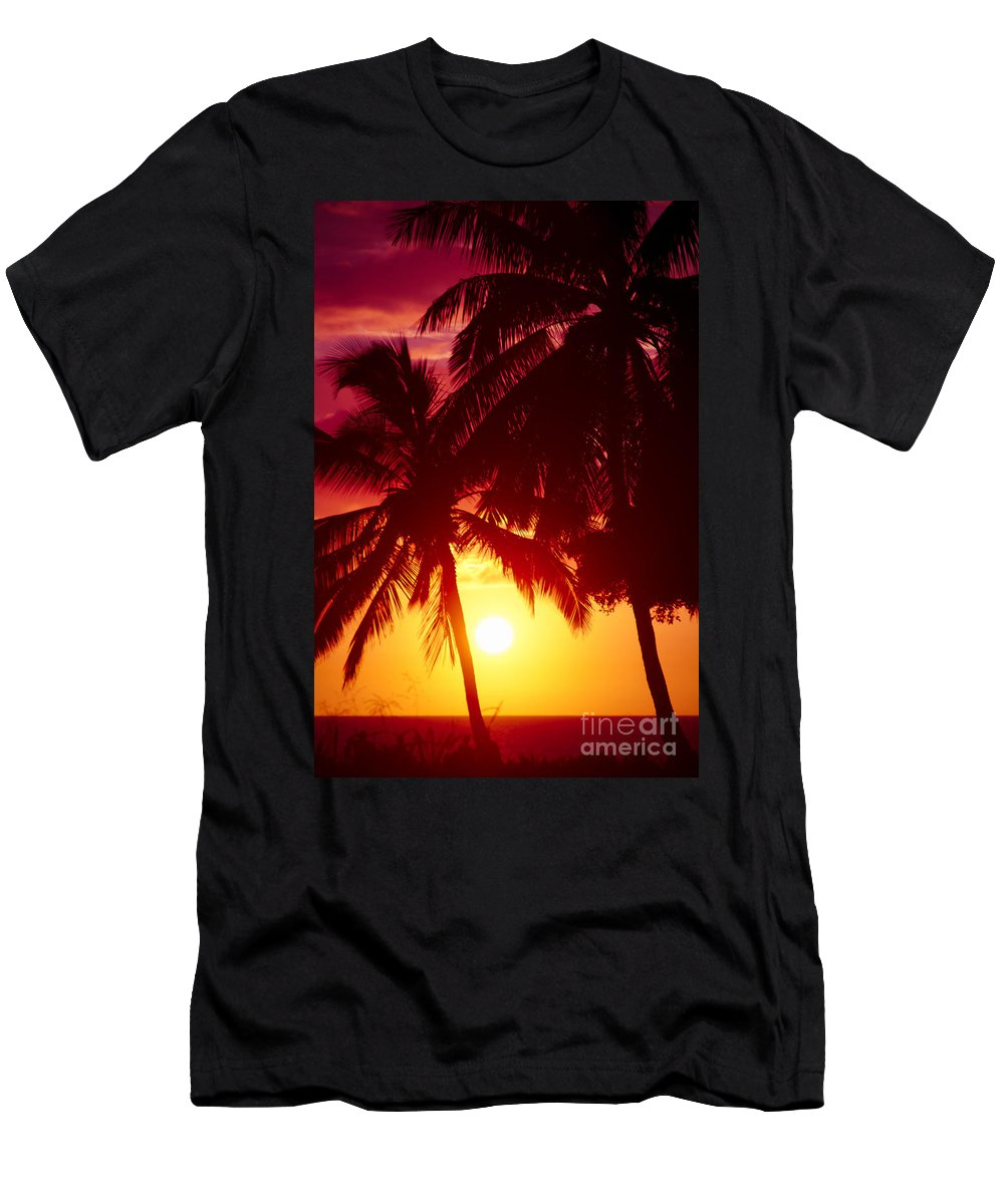 Aloha Men's T-Shirt (Athletic Fit) featuring the photograph Kamaole Nights by Sharon Mau