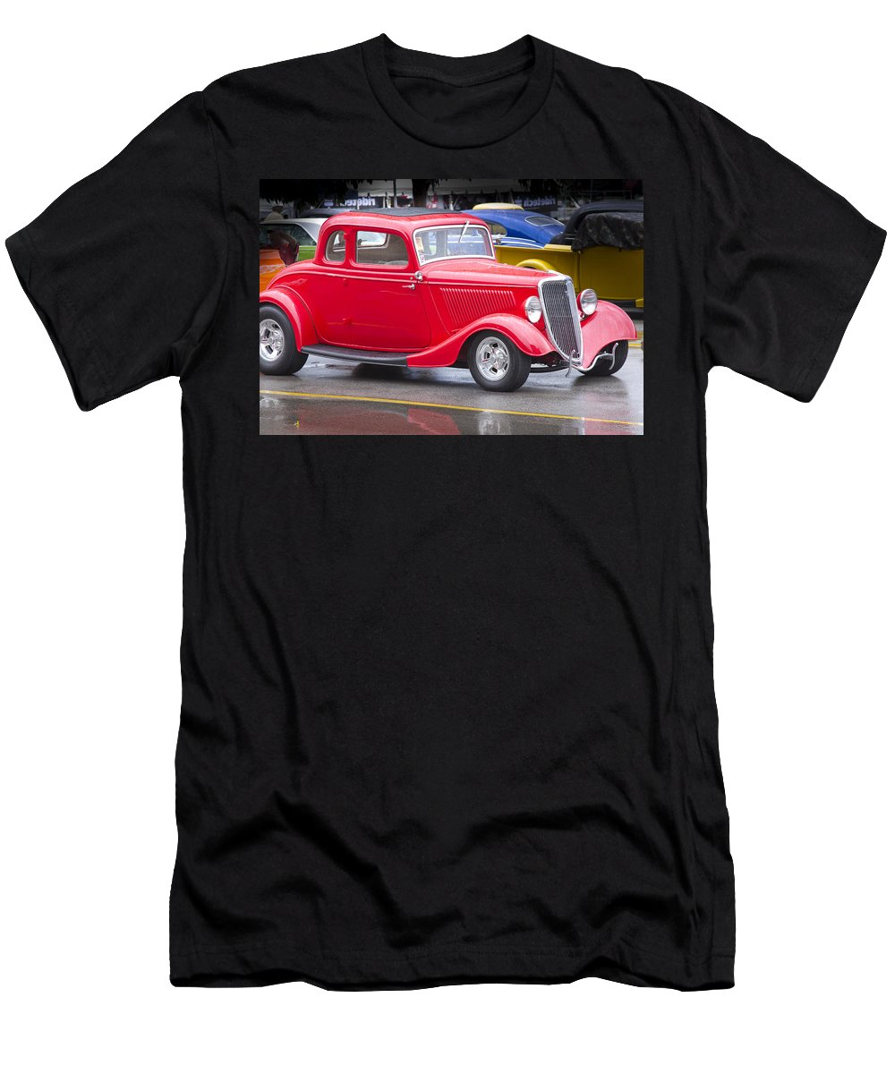 American Men's T-Shirt (Athletic Fit) featuring the photograph Little Red Coup by Jack R Perry