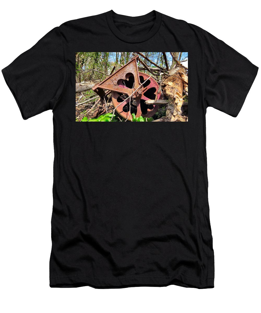 Heart Men's T-Shirt (Athletic Fit) featuring the photograph Love Is by Art Dingo