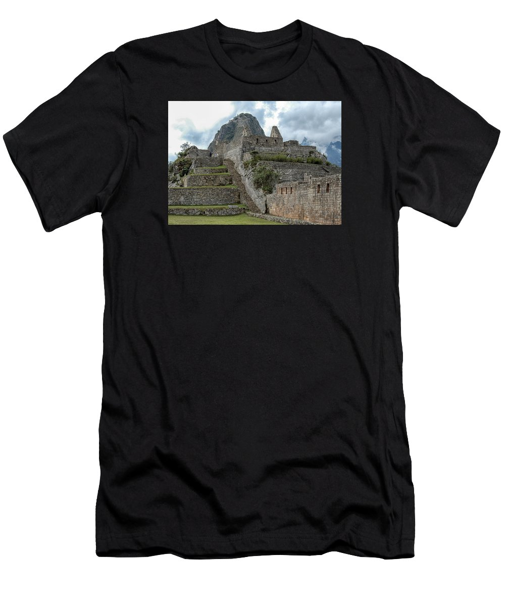 Peru Men's T-Shirt (Athletic Fit) featuring the photograph Machu Picchu - 2 by Alan Toepfer