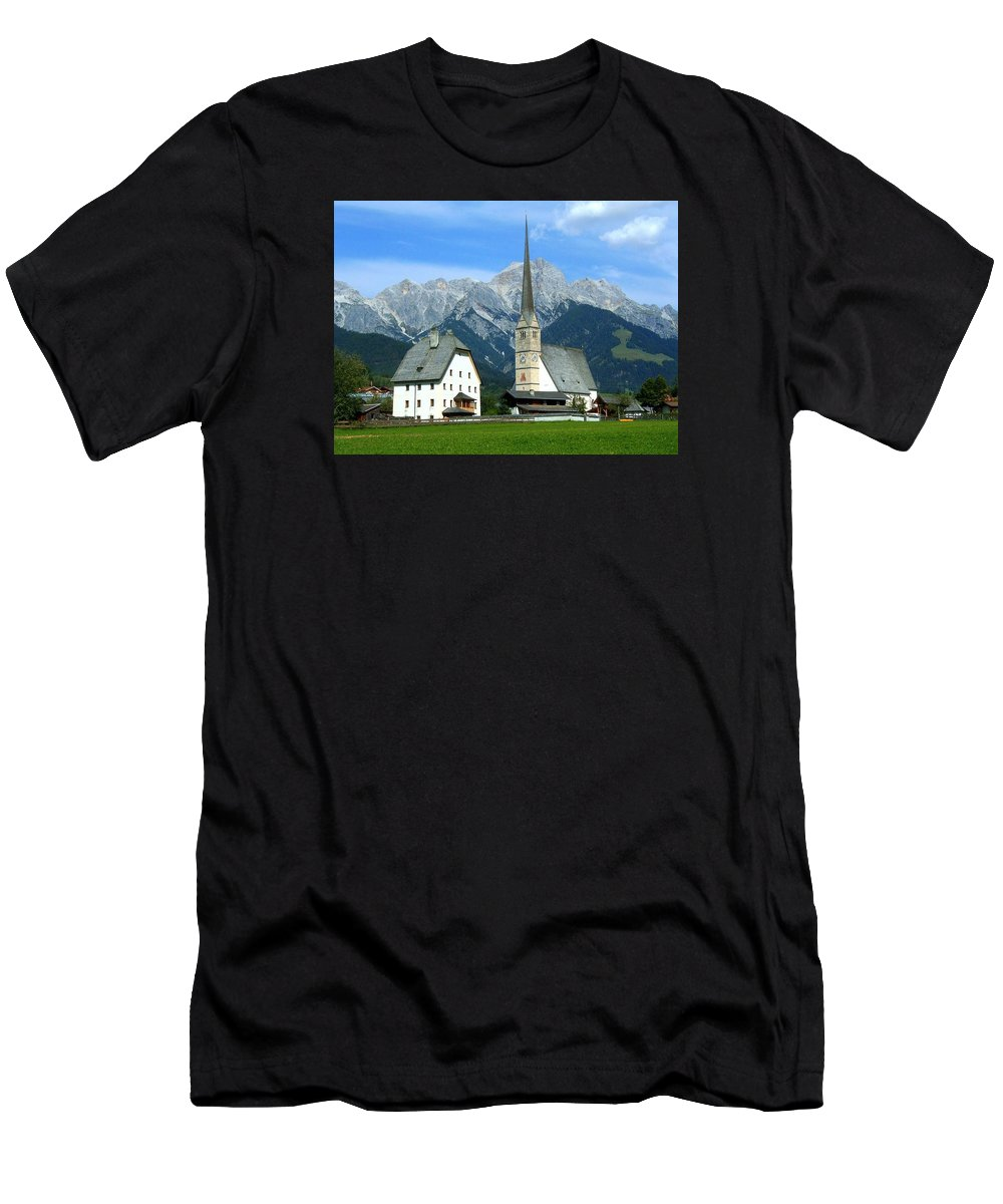 Europe Men's T-Shirt (Athletic Fit) featuring the photograph Maria Alm by Juergen Weiss