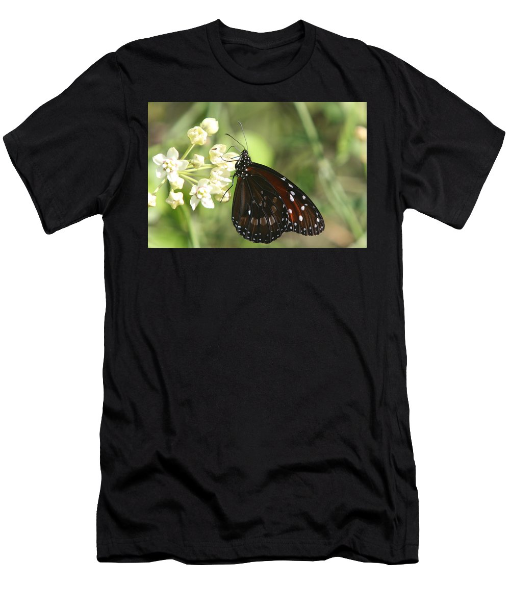 Butterfly Men's T-Shirt (Athletic Fit) featuring the photograph Monarch Butterfly by Christiane Schulze Art And Photography