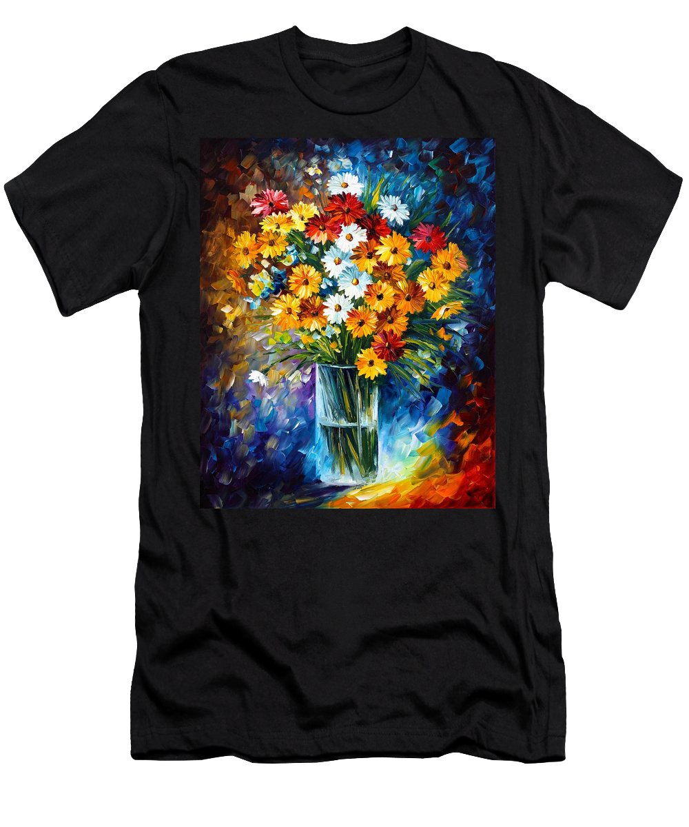Afremov Men's T-Shirt (Athletic Fit) featuring the painting Morning Charm by Leonid Afremov
