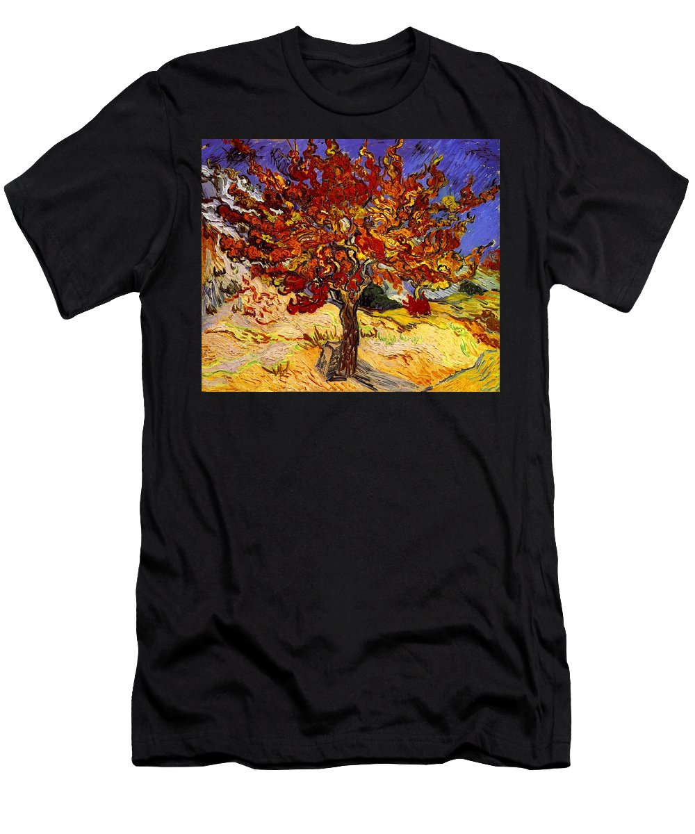Vincent Van Gogh Men's T-Shirt (Athletic Fit) featuring the painting Mulberry Tree by Vincent Van Gogh