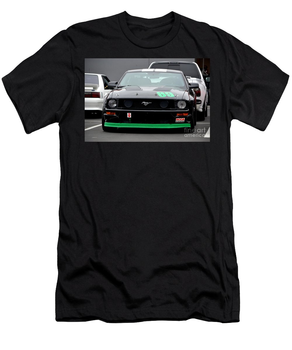 Men's T-Shirt (Athletic Fit) featuring the photograph Mustang Race Car by Dean Ferreira