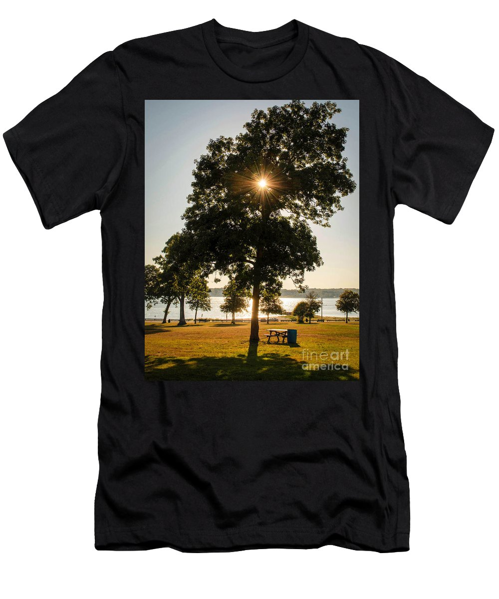 Hazelwood Men's T-Shirt (Athletic Fit) featuring the photograph New Bedford Massachusetts 2 by Andrea Anderegg