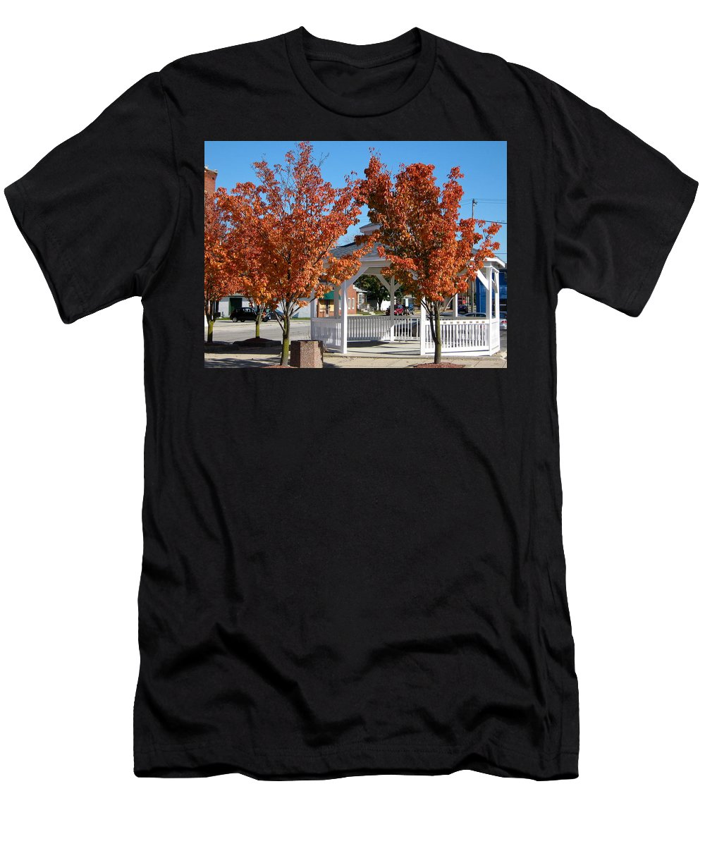 Tree Men's T-Shirt (Athletic Fit) featuring the photograph Ohio Trees by Denise Mazzocco